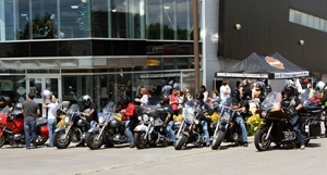 Bikes from Motorcycle RIDE for Charity in Durham